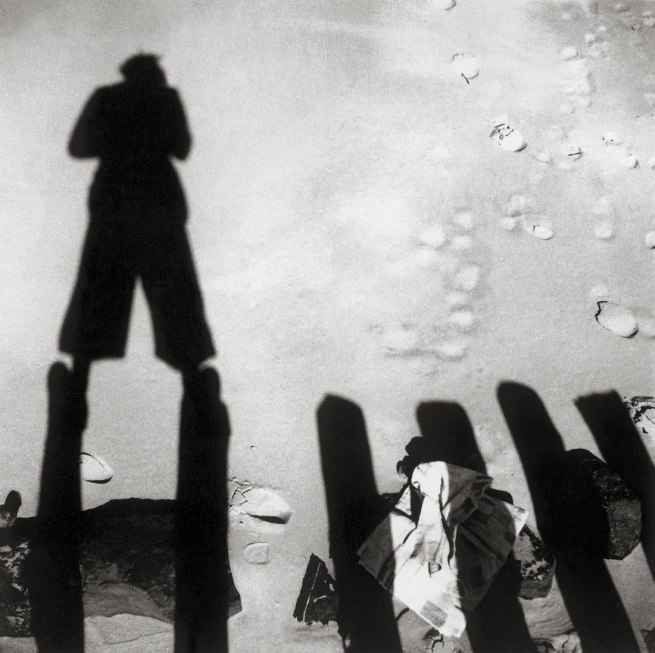 Eva Besnyö. 'Untitled [The shadow of John Fernhout, Westkapelle, Zeeland, Netherlands]' 1933