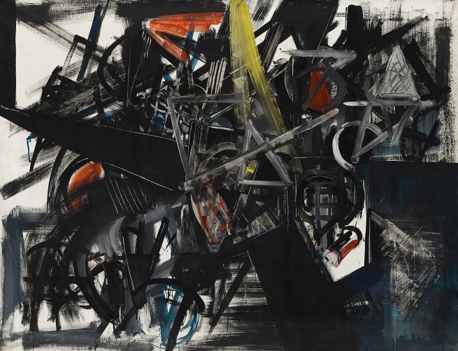 Emilio Vedova (Italian, 1919-2006) 'Image of Time (Barrier)' 1951