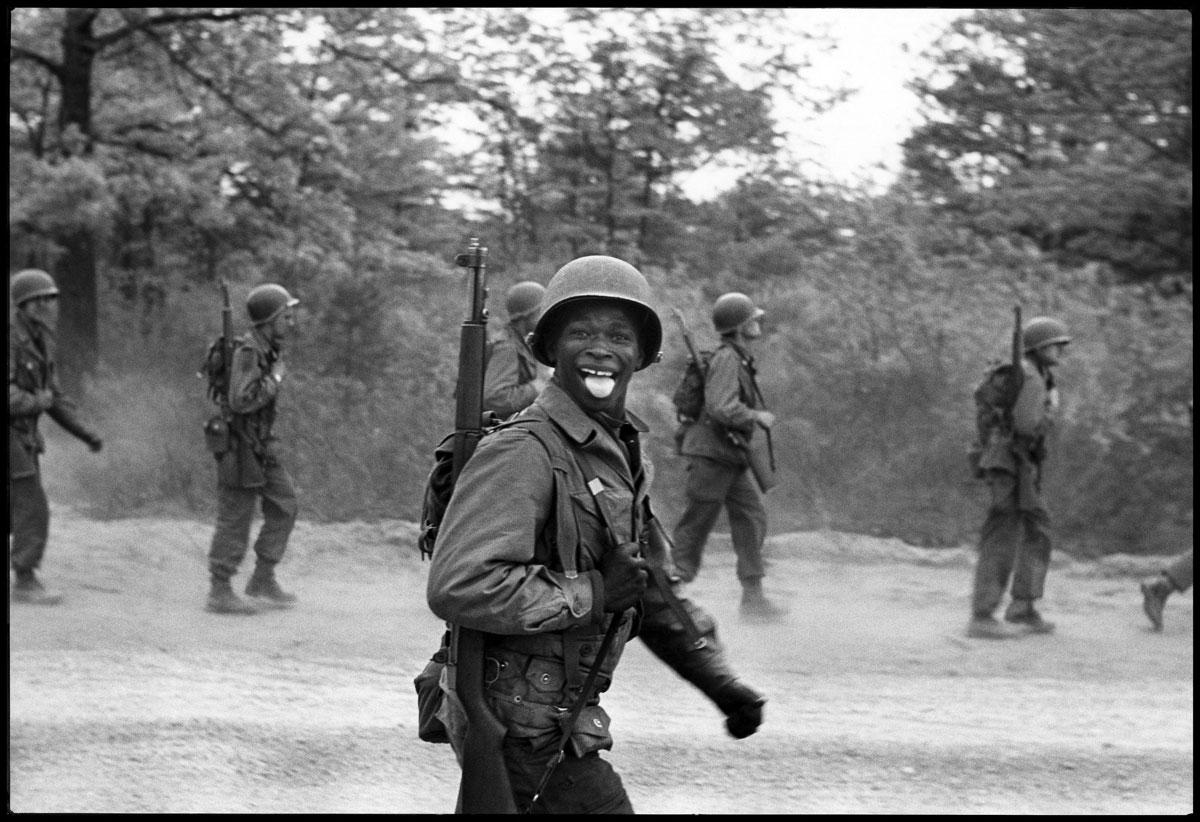 Elliott Erwitt. 'USA. Fort Dix, New Jersey. 1951' 1951