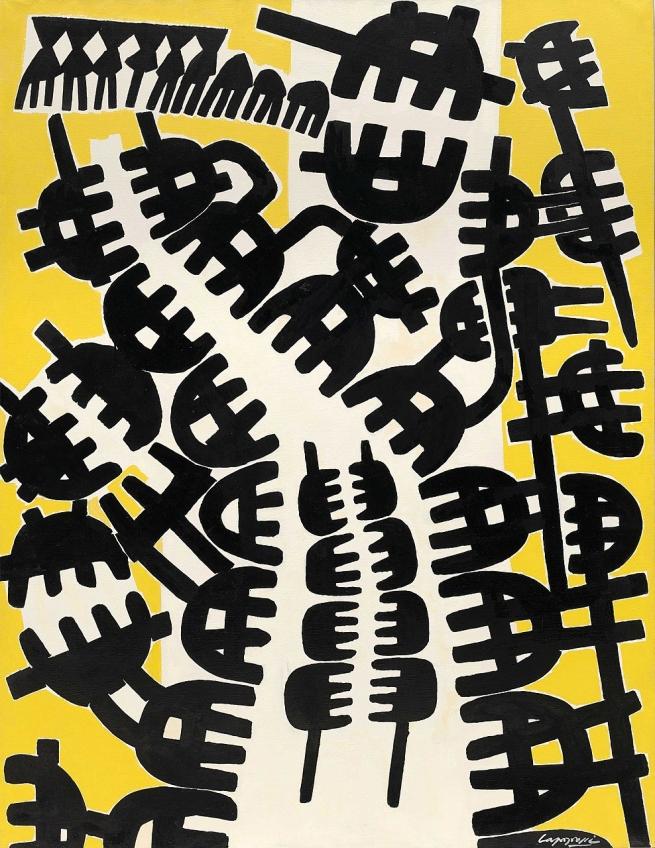 Giuseppe Capogrossi (Italian, 1900-1972) 'Surface 210' 1957