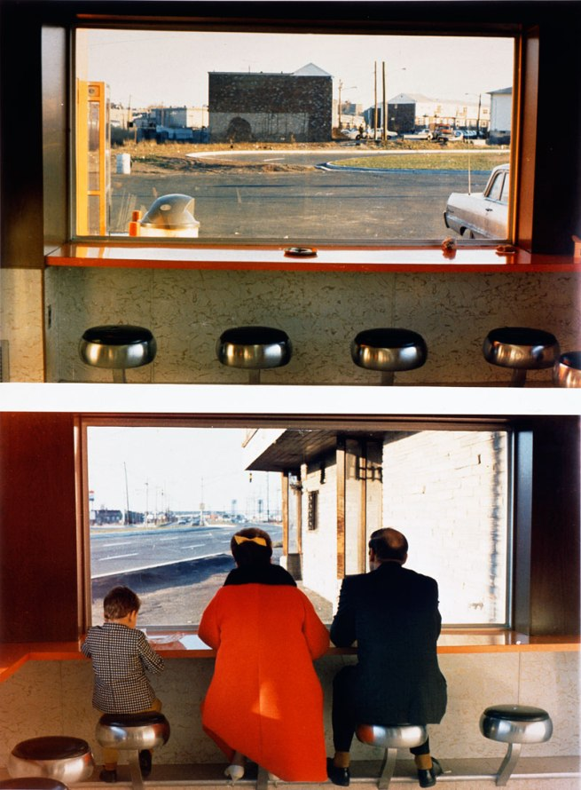 Dan Graham. 'View Interior, New Highway Restaurant, Jersey City, N.J.,' (detail) 1967