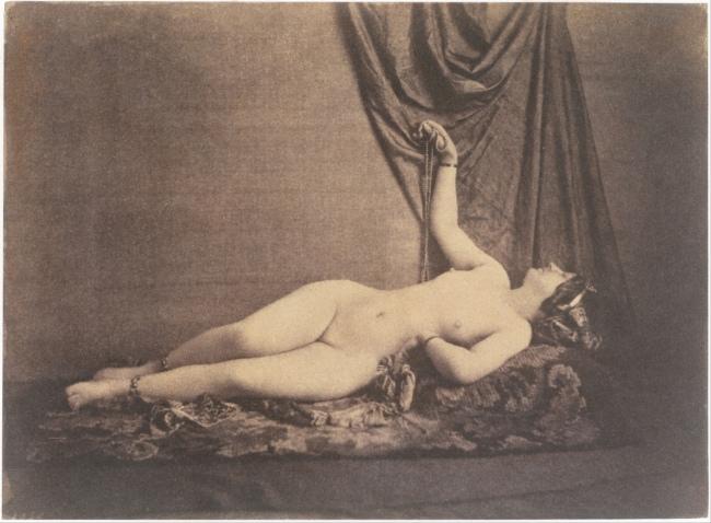 Julien Vallou de Villeneuve (French, 1795-1866) '[Reclining Female Nude]' c. 1853