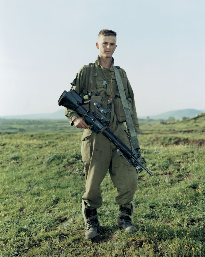 Rineke Dijkstra. 'Omri, Givatti Brigade, Golan Heights, Israel, March 29, 2000'