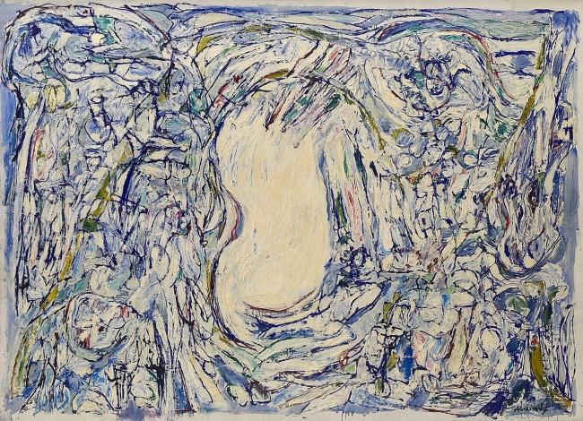 Pierre Alechinsky (Belgium, b. 1927) 'Vanish' 1959