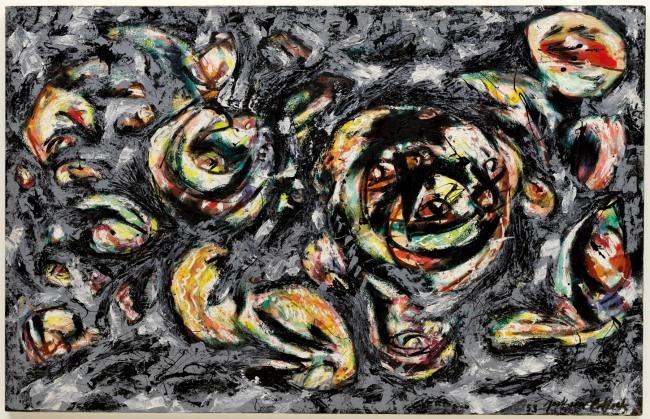 Jackson Pollock. 'Ocean Greyness' 1953