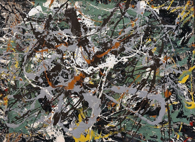 Jackson Pollock (American, 1912-1956) 'Untitled (Green Silver)' c. 1949