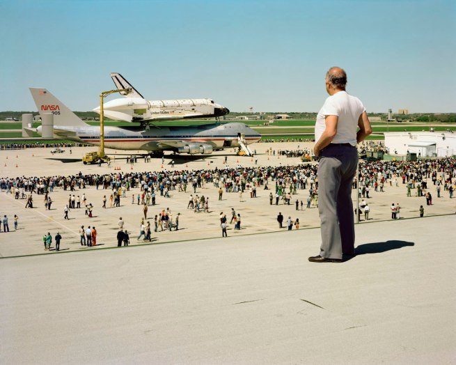 Joel Sternfeld. 'The Space Shuttle Columbia Lands at Kelly Lackland Air Force Base, San Antonio, Texas, March 1979' 1979