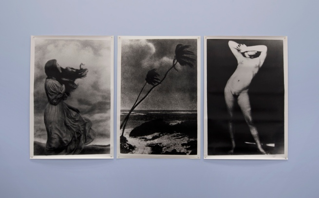 Installation view of Pat Brassington. 'Untitled (triptych)' 1989