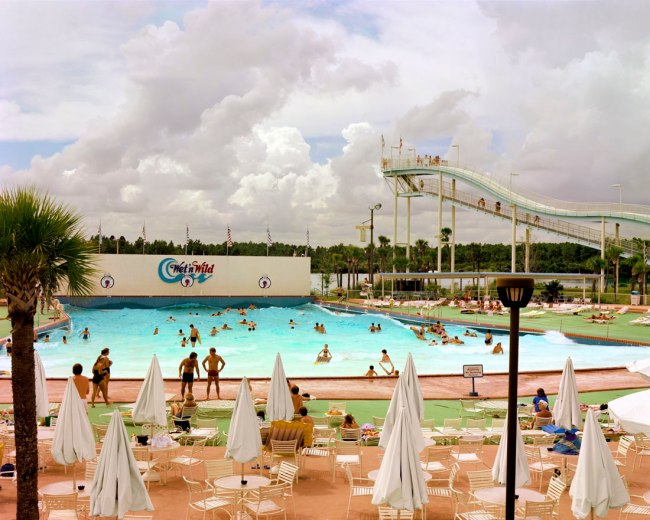 Joel Sternfeld. 'Wet 'n Wild Aquatic Theme Park, Orlando, Florida, September 1980' 1980
