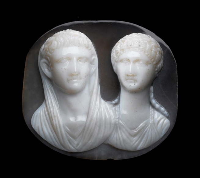 Anon. 'Cameo with portrait busts of an Imperial Julio-Claudian couple' mid-1st century AD