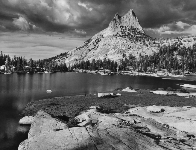 Ansel Adams (American, 1902-1984) 'Cathedral Peak, Tuolumne River' 1944