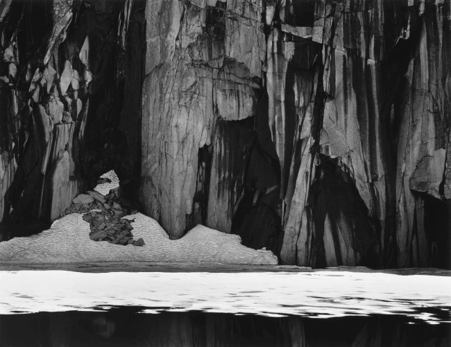 Ansel Adams (American, 1902-1984) 'Frozen Lake and Cliffs, Kaweah Gap, Sierra Nevada, California' 1932