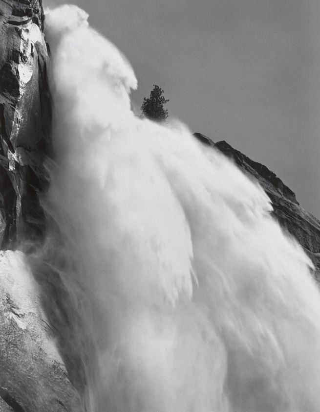 Ansel Adams (American, 1902-1984) 'Nevada Fall Profile' 1946