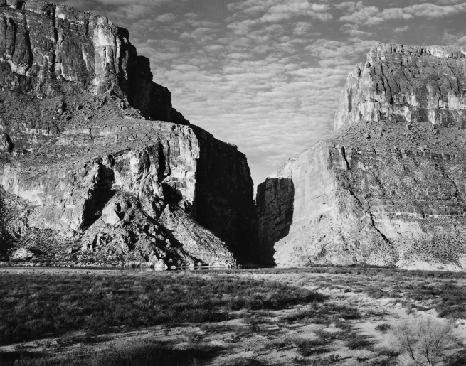 Ansel Adams (American, 1902-1984) 'Santa Elena Canyon, Big Bend National Park, Texas' 1947