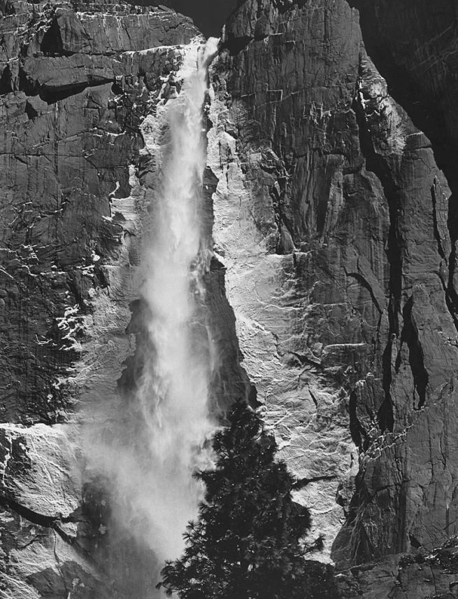 Ansel Adams (American, 1902-1984) 'Upper Yosemite Fall' 1960