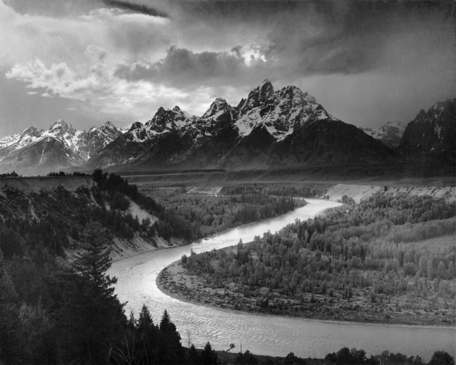 Ansel Adams. 'The Tetons and the Snake River, Grand Teton National Park, Wyoming' 1942