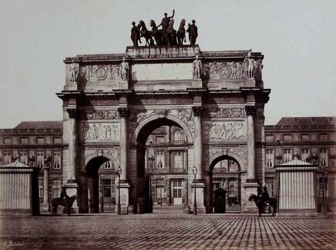 Edouard Baldus. 'Arc de Caroussel' c. 1853
