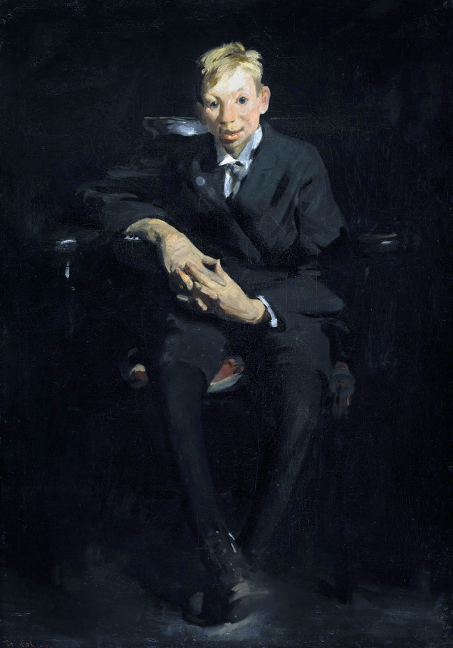 George Bellows (American, 1882-1925) 'Frankie, The Organ Boy' 1907