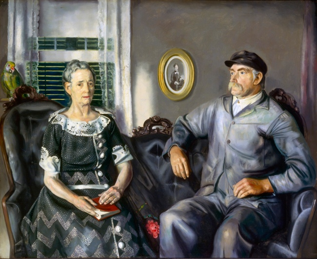 George Bellows (American, 1882-1925) 'Mr. and Mrs. Phillip Wase' 1924