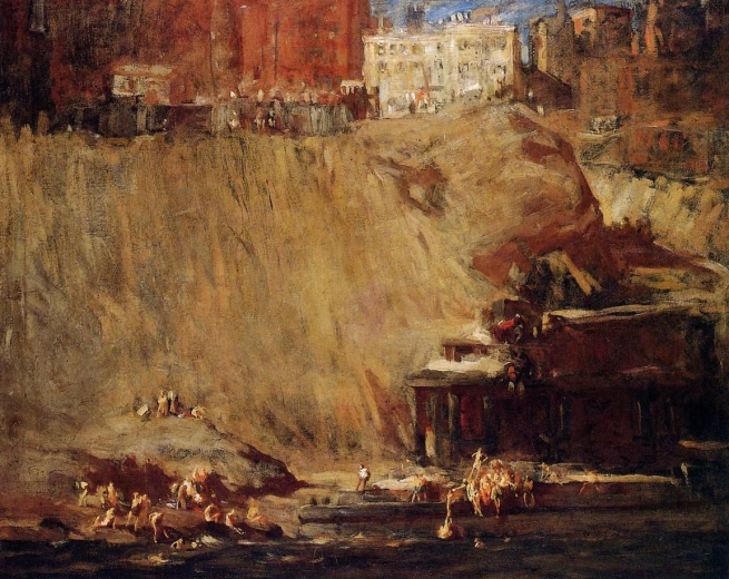 George Bellows (American, 1882-1925) 'River Rats' 1906