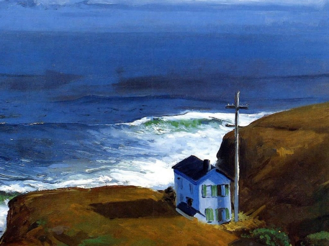 George Bellows (American, 1882-1925) Bellows. 'Shore House' 1911