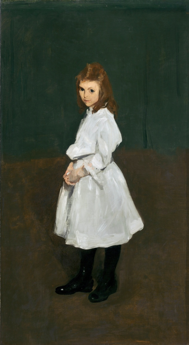George Bellows (American, 1882-1925) 'Little Girl in White (Queenie Burnett)' 1907
