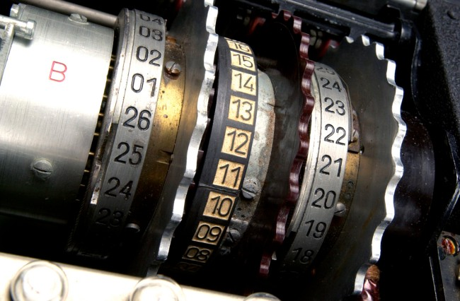 Enigma machine rotor detail