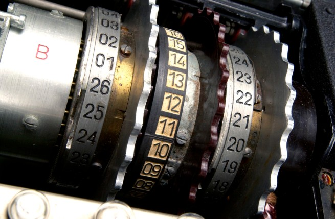 Enigma machine rotor detail