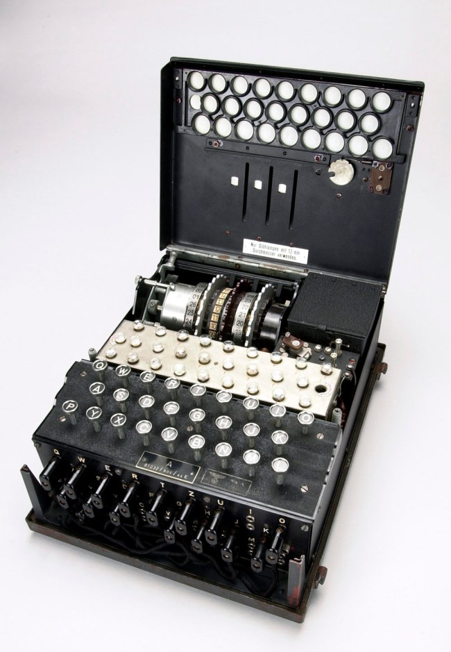 A three-rotor Enigma machine