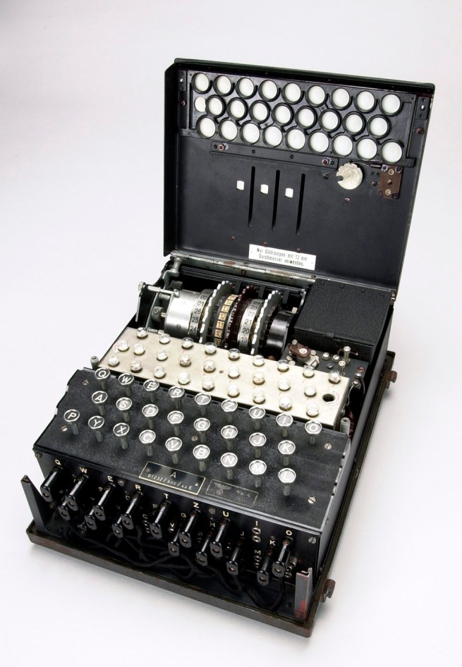 A three-rotor Enigma machine