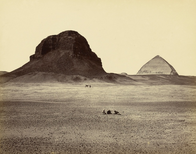 Francis Frith (English, 1822-1898) 'The Pyramids of Dahshoor, From the East' 1857