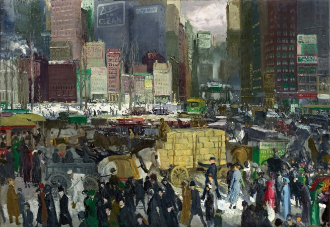 George Bellows (American, 1882-1925) 'New York' 1911