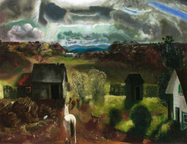 George Bellows (American, 1882-1925) 'The White Horse' 1922