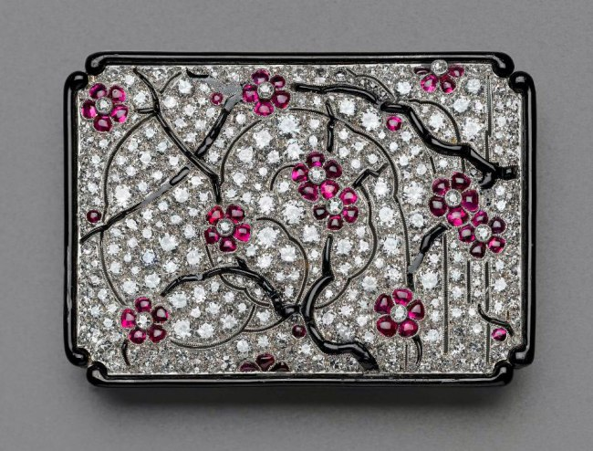Probably by Lacloche Frères, Spanish, founded in 1875 (also working in Paris) 'Japanesque brooch' French, about 1925