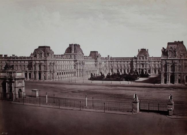 Edouard Baldus. 'Le Nouveau Louvre' c. 1857