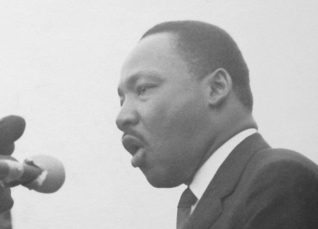 Dennis Hopper. 'Martin Luther King, Jr.,' 1965 (detail)