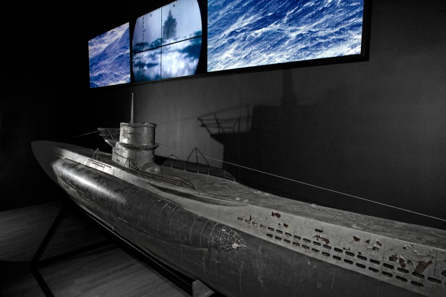 Model of a U-boat (Unterseeboot) used in the film 'Das Boot'