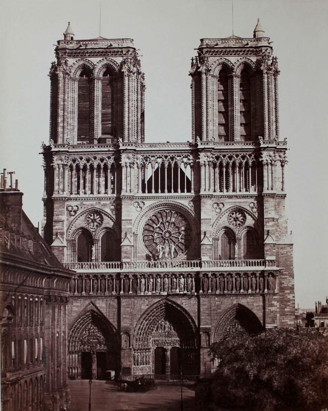 Edouard Baldus. 'Notre Dame, Facade Principale, Paris' 1857
