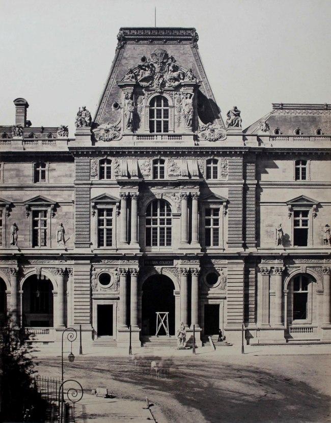 Edouard Baldus. 'Pavillon Colbert, Nouveau Louvre, Paris' c.1855