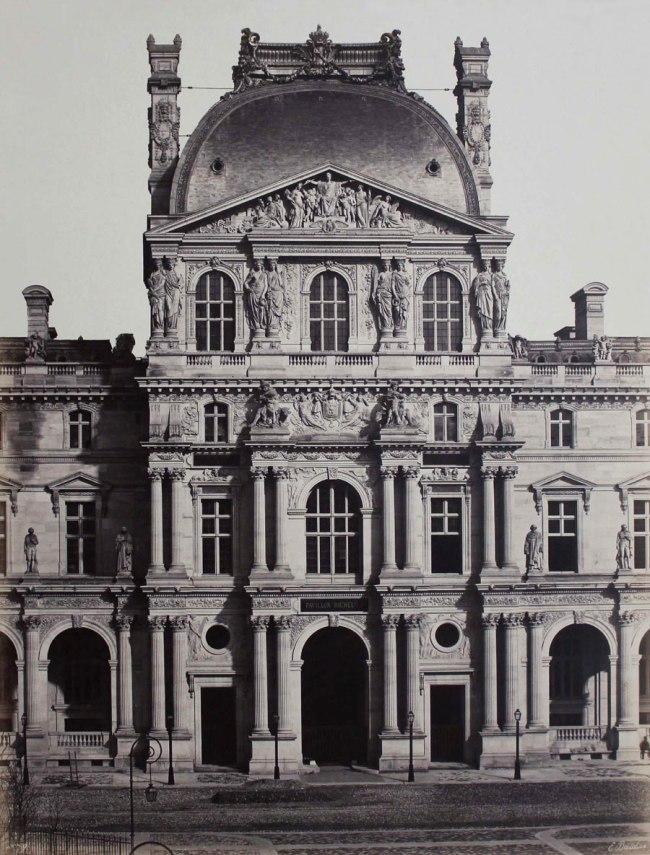 Edouard Baldus. 'Pavillon Richelieu, Nouveau Louvre, Paris' c. 1855