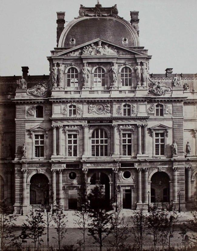 Edouard Baldus. 'Pavillon Sully, Nouveau Louvre, Paris' c. 1857