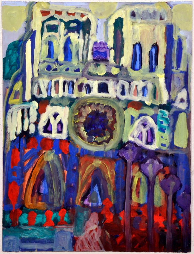 Valerio Ciccone. 'Not titled (Notre Dame)' 1990