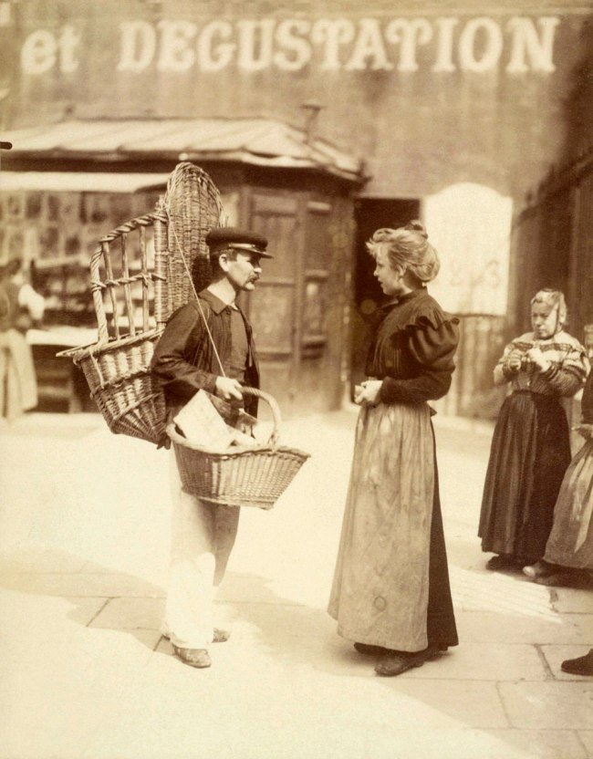 Eugène Atget. 'Street vendor, place Saint-Médard, 5th arrondissement' September 1898