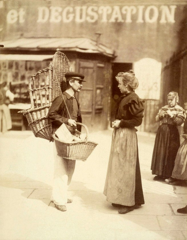 Eugène Atget. 'Street vendor, place Saint-Médard, 5th arrondissement' September 1898