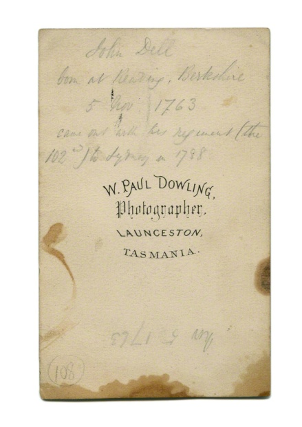 W. Paul Dowling. Photographer. 'John Dell' 1851-1852 / 1859-1866