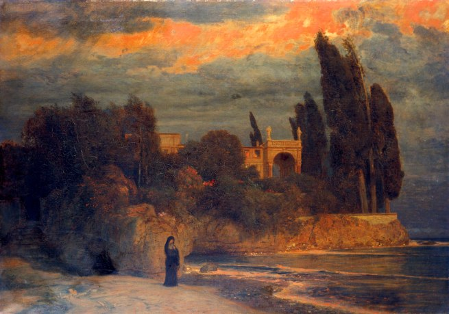 Arnold Böcklin (1827-1901) 'Villa by the Sea' 1871-1874