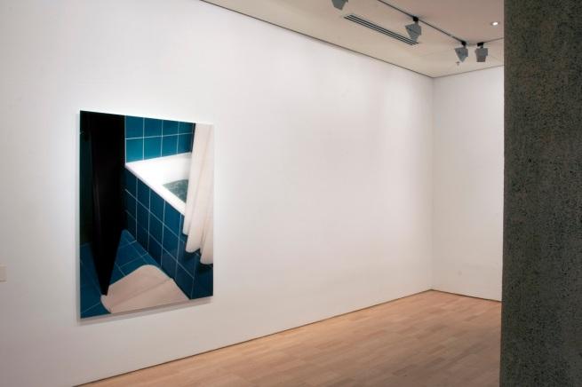 Installation view of 'Thomas Demand' at NGVI showing 'Badezimmer / Bathroom' 1997