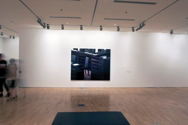 Installation view of 'Thomas Demand' at NGVI showing 'Parlament / Parliament' 2009