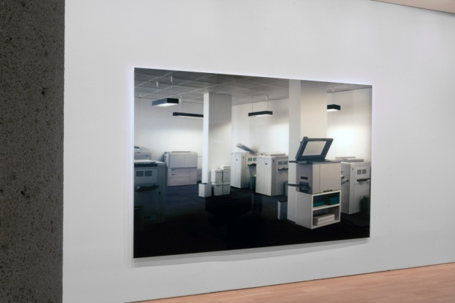 Installation view of 'Thomas Demand' at NGVI showing 'Copyshop' 1999