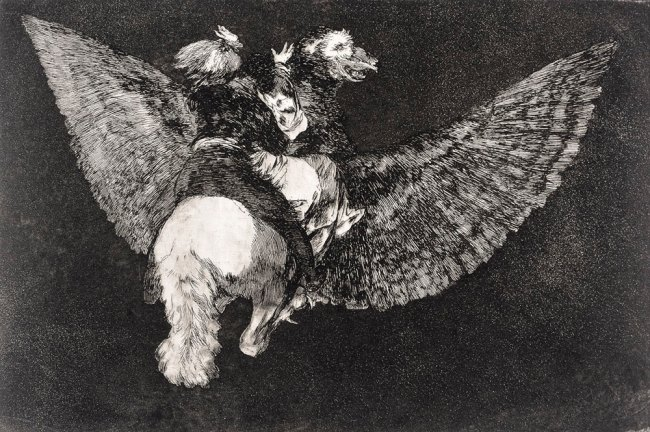 Francisco de Goya. 'Flying Folly (Disparate Volante)' 1816-1819